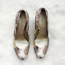 LIZ CLAIBORNE Yellow White Brown Beige Round Toe Shoes Sz 10