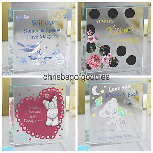 PERSONALISED CRYSTAL I LOVE YOU Romantic Gifts For HIM HER my girlfriend wife