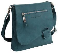 Bag Street DAMENTASCHE Umhängetasche Handtasche Schultertasche T0104 schwarz