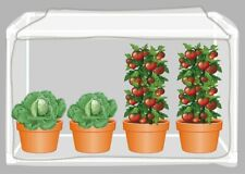 """Hgmart 45""""-Wx45""""-Lx39& #034; -H 5-Sides Garden Insect Barrier Kit with Frame for Herbs"""
