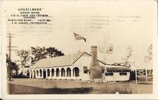 Postcard Maine Saco Angellmere Dining Room Restaurant Rppc 1936 York County