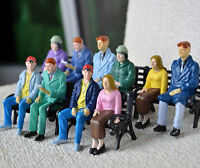 15 pcs G gauge 1:24 Figures All Seated Passengers Machine Painted People