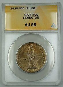 1925 Lexington Commemorative Silver Half Dollar Coin ANACS AU-58 (B)