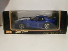Maisto 1:18 Special Edition 1996 Dodge Viper GTS Diecast Metal Car