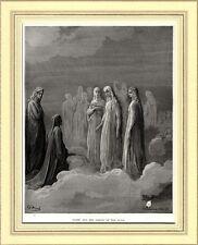 PARADISO: DANTE E GLI SPIRITI DELLA LUNA. Gustave Doré. Divina Commedia. 1890