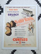 ORIGINAL 1951 VINTAGE AD ADVERT CUT OUT Baby Ruth Candy Curtiss US Americana