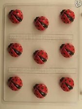 LADYBUG BITE SIZE CLEAR PLASTIC CHOCOLATE CANDY MOLD AO208