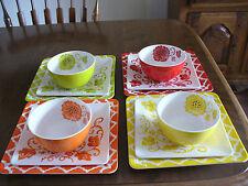 Laurie Gates 12 Piece Melamine Dinnerware Set Heavy Weight Dishes  NICE-L@@K