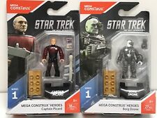 Mega Construx Heroes Star Trek TNG Captain Picard & Borg Drone FND65 & FND66