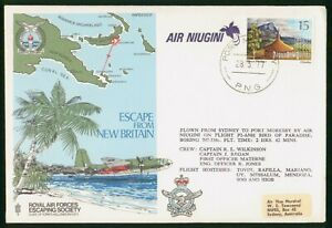 Mayfairstamps Papua New Guinea 1977 Map Airplane Mountians Air Niugini Cover wwp