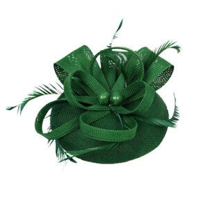 Vintage Women Feather Hair Fascinator Hat Kentucky Bride Hair Clip Headbands