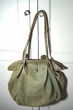"""Gustto Purse Bag X-Large  Distressed Leather Green """"Poliziani""""   Retailed: $695"""