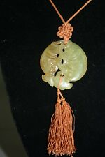 Chinese Old Jade Carved Fishes Pendant
