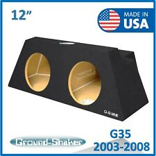 "Infiniti G35 2003-2008 12"" Dual Sealed Sub box Subwoofer Enclosure Ground-shaker"