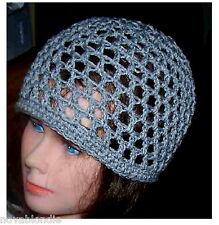 Mesh Beanie Skull Cap Hat Infant Toddler to XXL Adult Acrylic Hand Crochet
