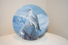 """Knowles """"The White Gyrfalcon"""" by Daniel Smith Majestic Series Collector Plate"""