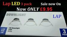 LED LAP 3 Pack Downlight In White, 240v IP20 320lm Only 3mm  Now £9.95  FREE P&P
