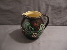 "Schneider Marburg Pitcher Germany Brown w/Colorful Design 5"" Height VGC"