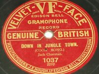 "Jack Charman:  Down in Jungle Town  10""  Velvet Face 1037  78"