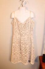JUNIOR WOMEN OFF WHITE LACE ISLET SPAGHETTI STRAP DRESS by FULL TILT SIZE LARGE