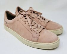 Frye Women's Kerry Lace-Up Sneakers Size 7 Pink Leather Retail $148