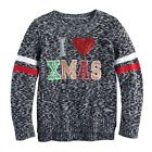 I Love Xmas Ugly Christmas Sweater Girl Juniors' It's Our Time L Large 14 1/2