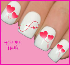 Nails Nail Art Water Transfers Decals Wraps Infinity Love Heart Y127 Valentine