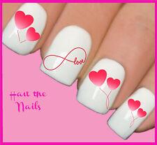 Uñas Nail Art transferencias de agua calcomanías Wraps infinito amor corazón y127 Valentine