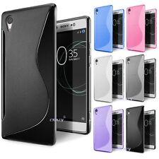 S Curved Soft Gel TPU Case Cover For Sony Xperia XA | XA1 | X | X Performance