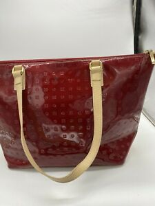 Arcadia Red patent leather handbag Made In Italy