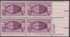 Scott # 1112 - Us Plate Block Of 4 - Atlantic Cable - Mnh - 1958