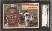 1956 TOPPS NO. 30 JACKIE ROBINSON SGC 96 MINT (9) CENTERED
