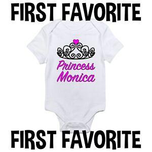 Custom Name Princess Baby Onesie Girl Female Personalization Tiara Infant Gerber