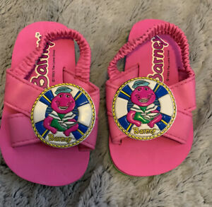 *Rare Vintage* Barney Baby Sandals With No Wear!