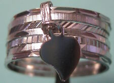 NEW STERLING SILVER 7 BAND RING FROM PORTUGAL  # 24-009