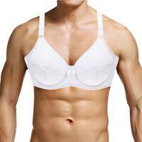 Men Bras Underwire Sissy Sexy Lingerie Big Cup Brassiere Fashion Bralette Tops