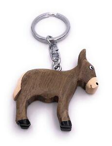 Esel Pferd Bauernhof Holz Edel Handmade Schlüsselanhänger Anhänger