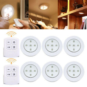 Battery Powered LED Lights Wireless Remote Control Under Cabinet Kitchen Lamps