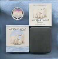 2012 1oz Silver Proof Coin Wildlife in Need Polar Bear Tuvalu Perth Mint