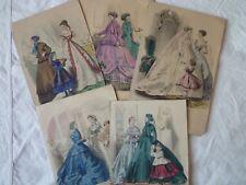 Lot Gravure Mode de Paris - Journal des demoiselles - Carrache