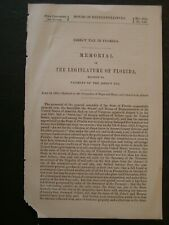 Government Report 1866 Payment of Direct Tax in Florida 20 Million Dollars