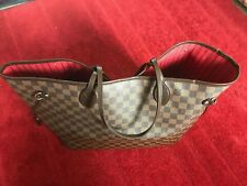 100% AUTHENTIC Louis Vuitton Neverfull GM Damier Ebene Canvas Handbag Tote Large
