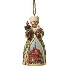 Jim Shore Heartwood Creek Russian Santa Christmas Hanging Ornament 4022942