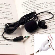 External Clip-on Lapel Tie Mini Lavalier Microphone 3.5mm Jack For Phone PC