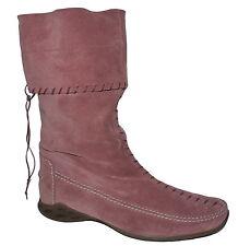 Vintage K+S Rosato Calf Length Slouch Suede Boots UK 4.5 NIB