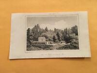K4) 1837 Etats-Unis D'Amerique Mohawk Indians At A Mansion Original Engraving