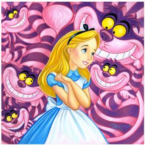 Disney Fine Art Limited Edition Canvas Cheshire Way-Alice In Wonderland-Rogerson