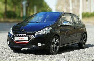 Norev 1/18 Peugeot 208 GTI 2013 Diecast Model Car Toys Boys Girls Gifts Black