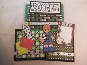 SOCCER 3D PAPER PIECING  SCRAPBOOK PAGE MAT SET