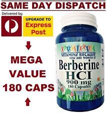 VBecause Berberine 900mg 180 Caps DOUBLE STRENGTH Heart Health PREMIUM GRADE